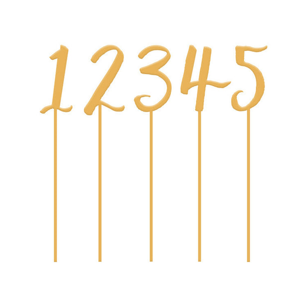 I found this at #moonandlola! - Table Number Set Symbol Antique Gold