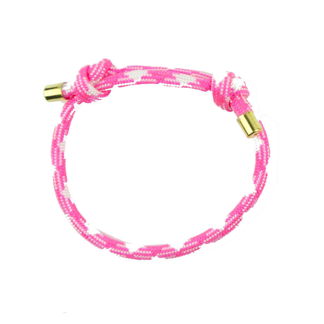 I found this at #moonandlola! - Topanga Bracelet Pink and White