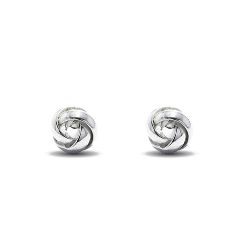 Moon and Lola - Valencia Post silver love knot earrings