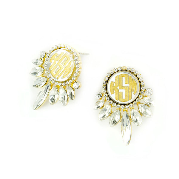 I found this at #moonandlola! - Vienna Monogram Earrings Side View