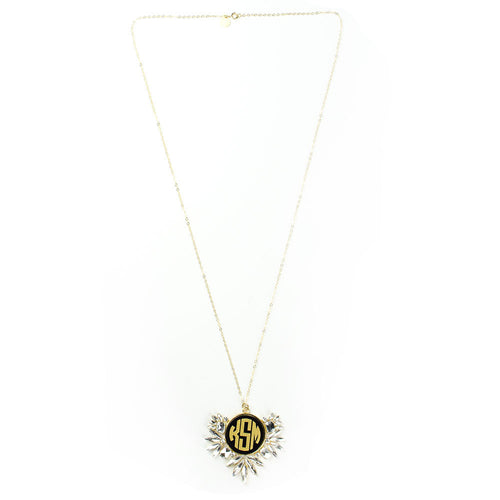 I found this at #moonandlola! - Vienna Monogram Necklace