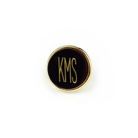 Vineyard Lapel Pin Stacked Monogram