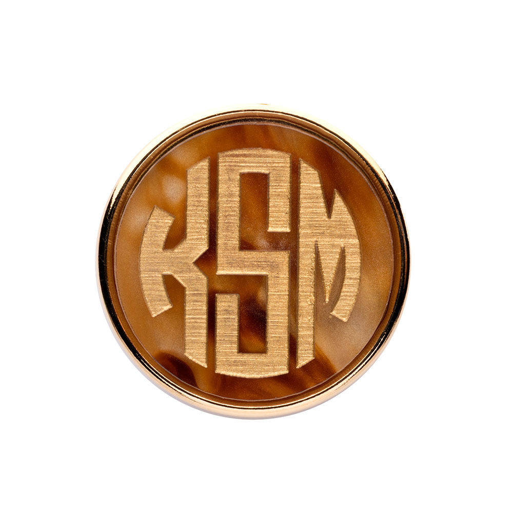 I found this at #moonandlola! - Vineyard Monogram Brooch Tiger's Eye