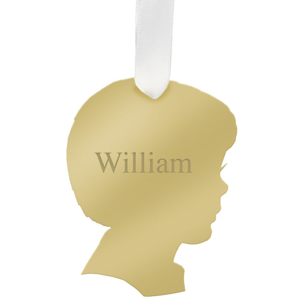 I found this at #moonandlola! - Personalized Will Ornament