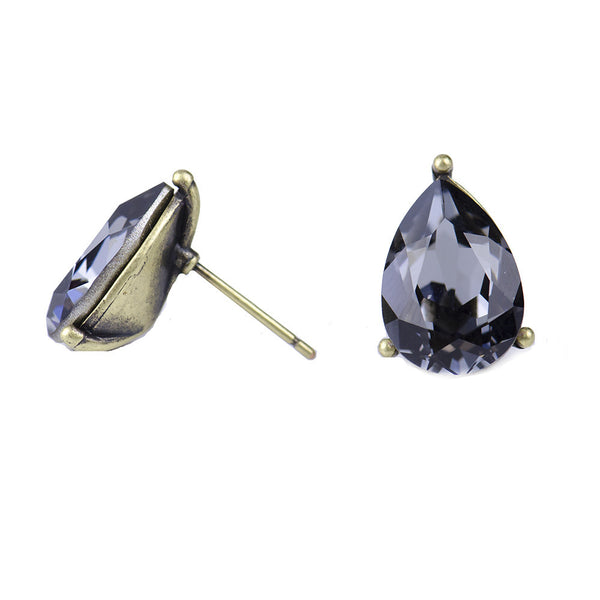 I found this at #moonandlola! - Windsor Studs Black Diamond side view