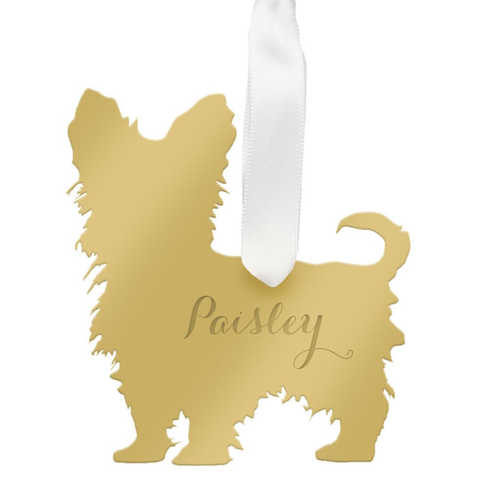 I found this at #moonandlola! - Personalized Yorkshire Terrier Ornament