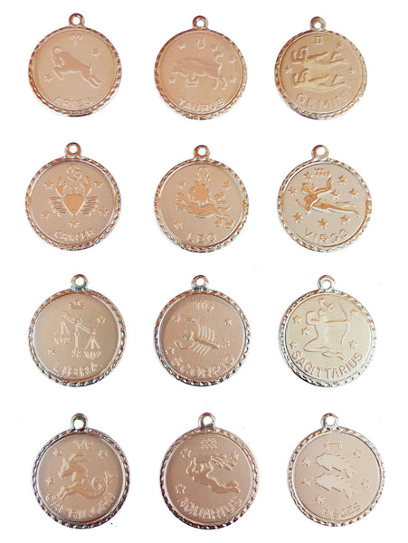 I found this at #moonandlola! - Zodiac Charms Gold