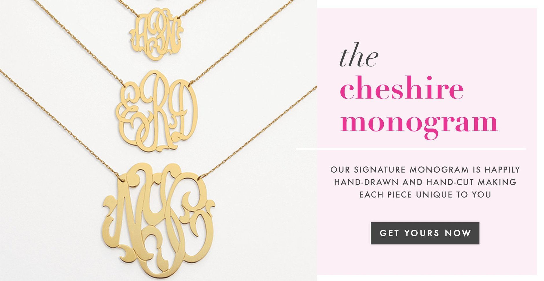 Moon and Lola - Hand Cut Metal Monogram Necklace