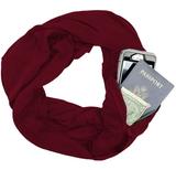Convertible Infinity Scarf With Zipped Pocket - Accessory - Scarf - LUXXC