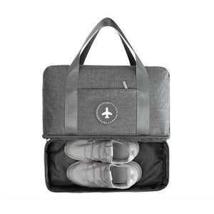 Travel Duffle With Shoe Compartment - Bag - LUXXC
