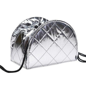 Keep-It-Together Makeup Bag Metallic Silver - Cosmetic Bags & Cases - LUXXC
