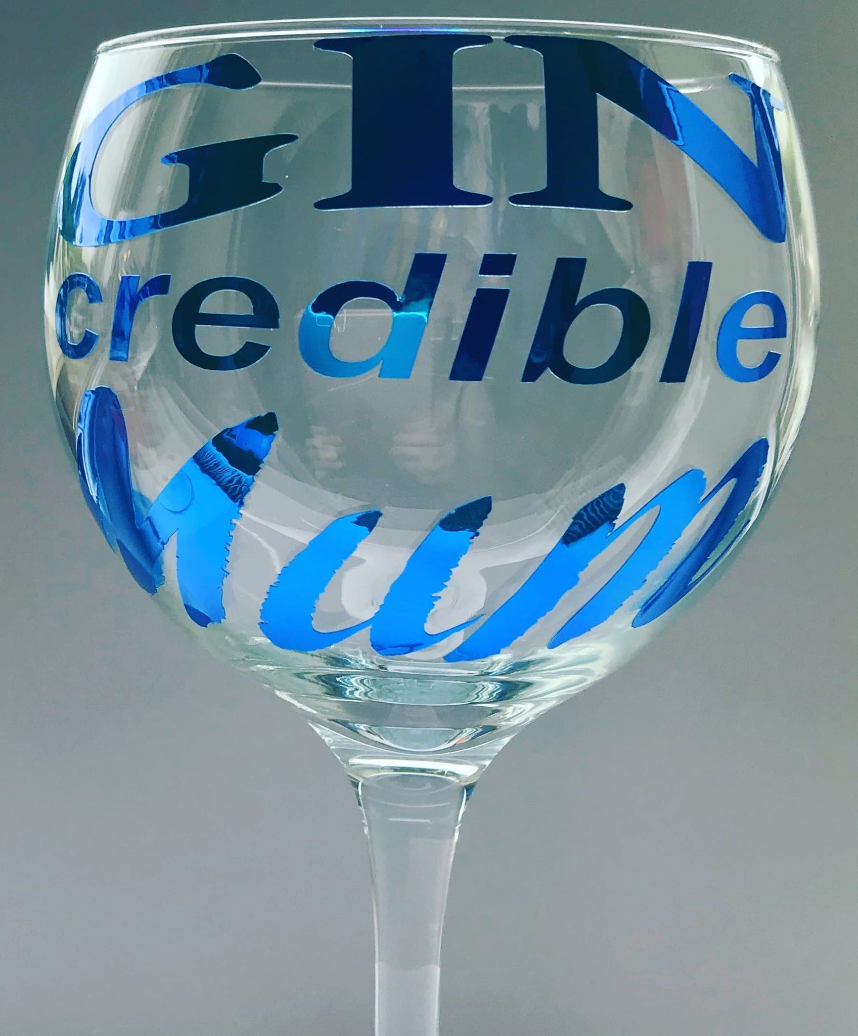 Gin credible mum gin glass