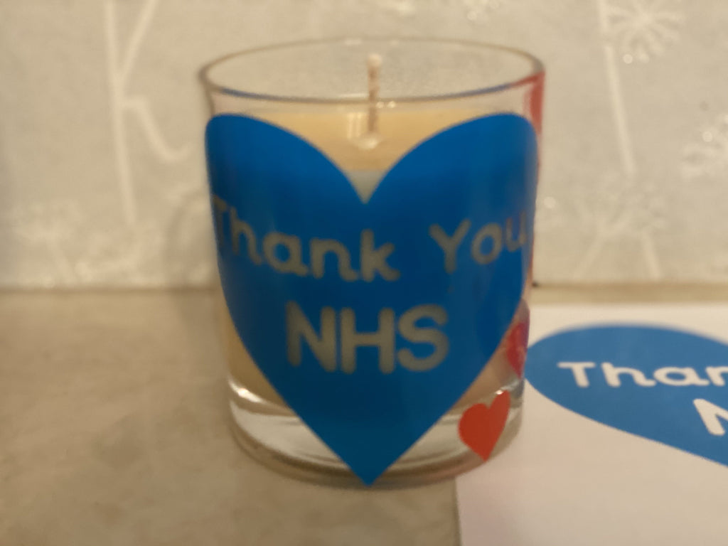 Thank you NHS candle - Pugglewick Candles