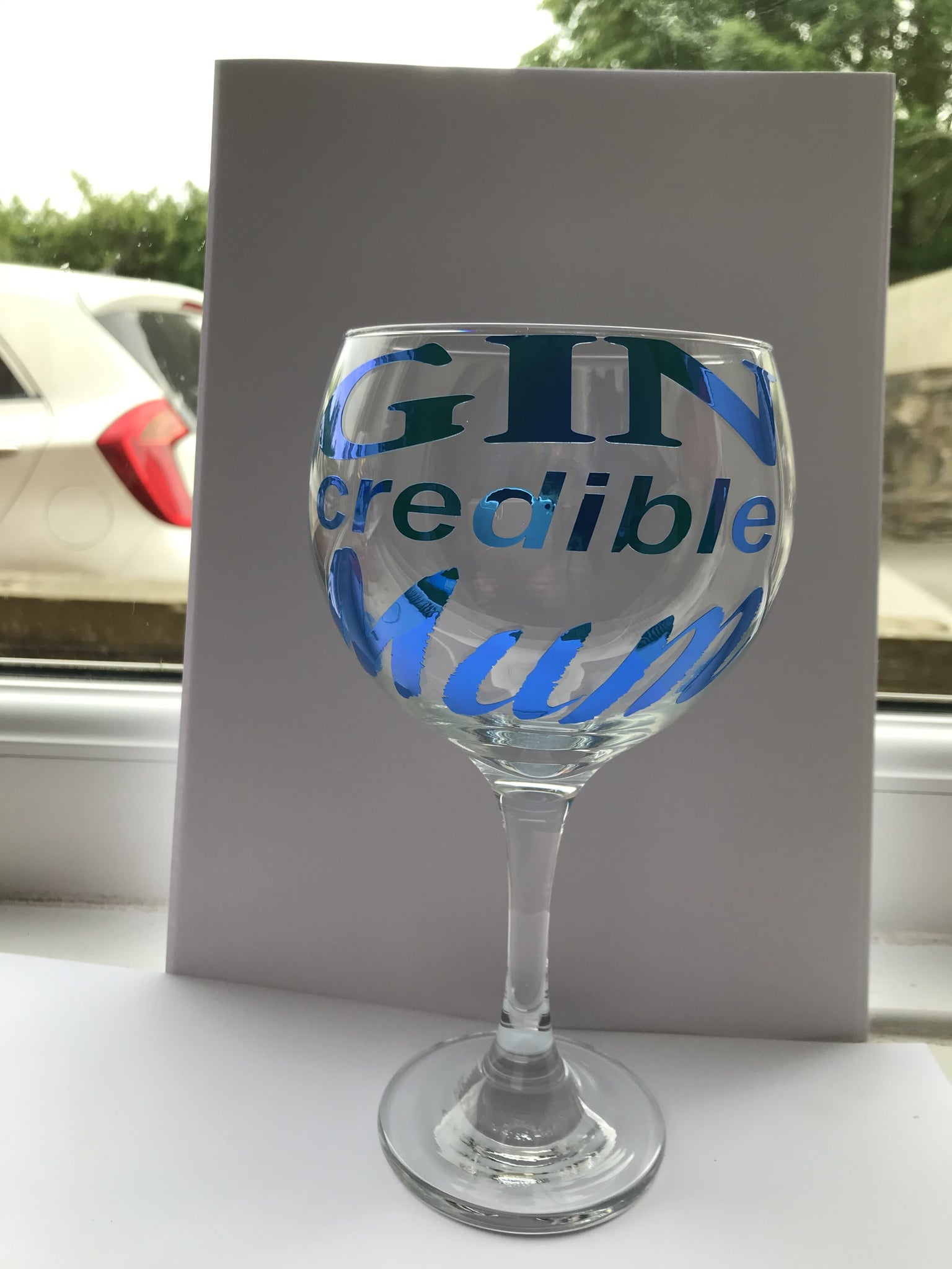 Gin credible mum gin glass - Pugglewick Candles