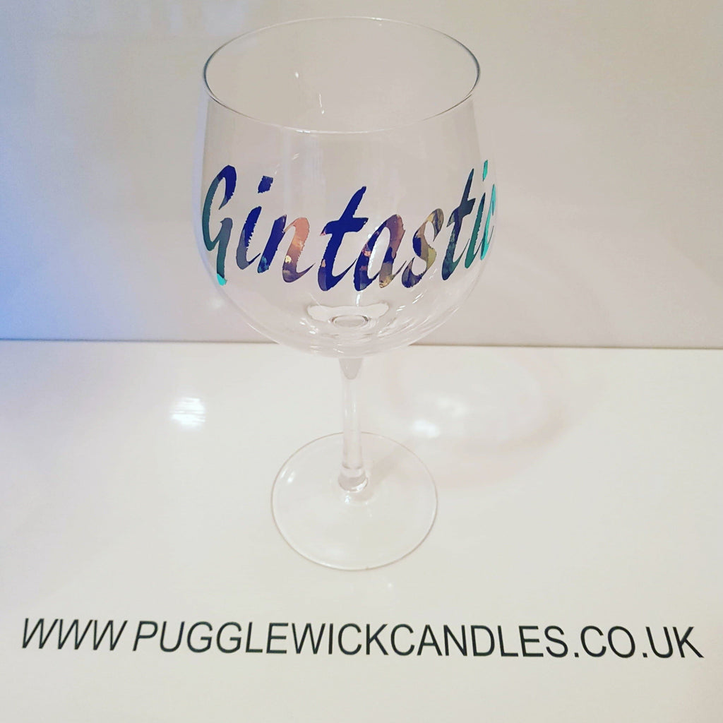 Gintastic gin glass - Pugglewick Candles