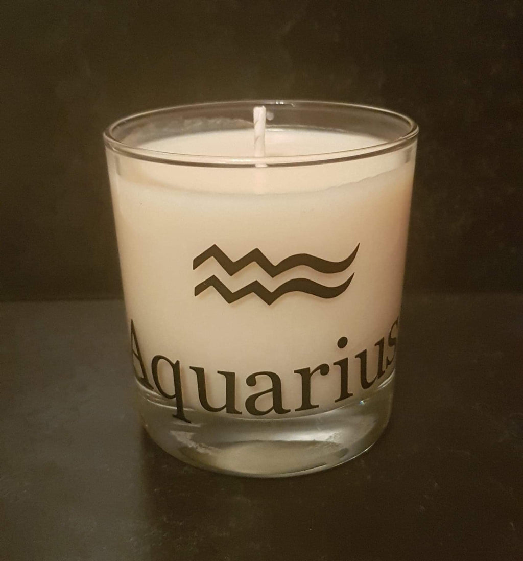 Soy Wax Zodiac Candles - Aquarius - Scent matched to the star sign - Pugglewick Candles