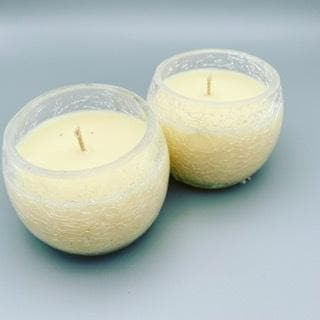 Crackle Glass Candles - Pugglewick Candles