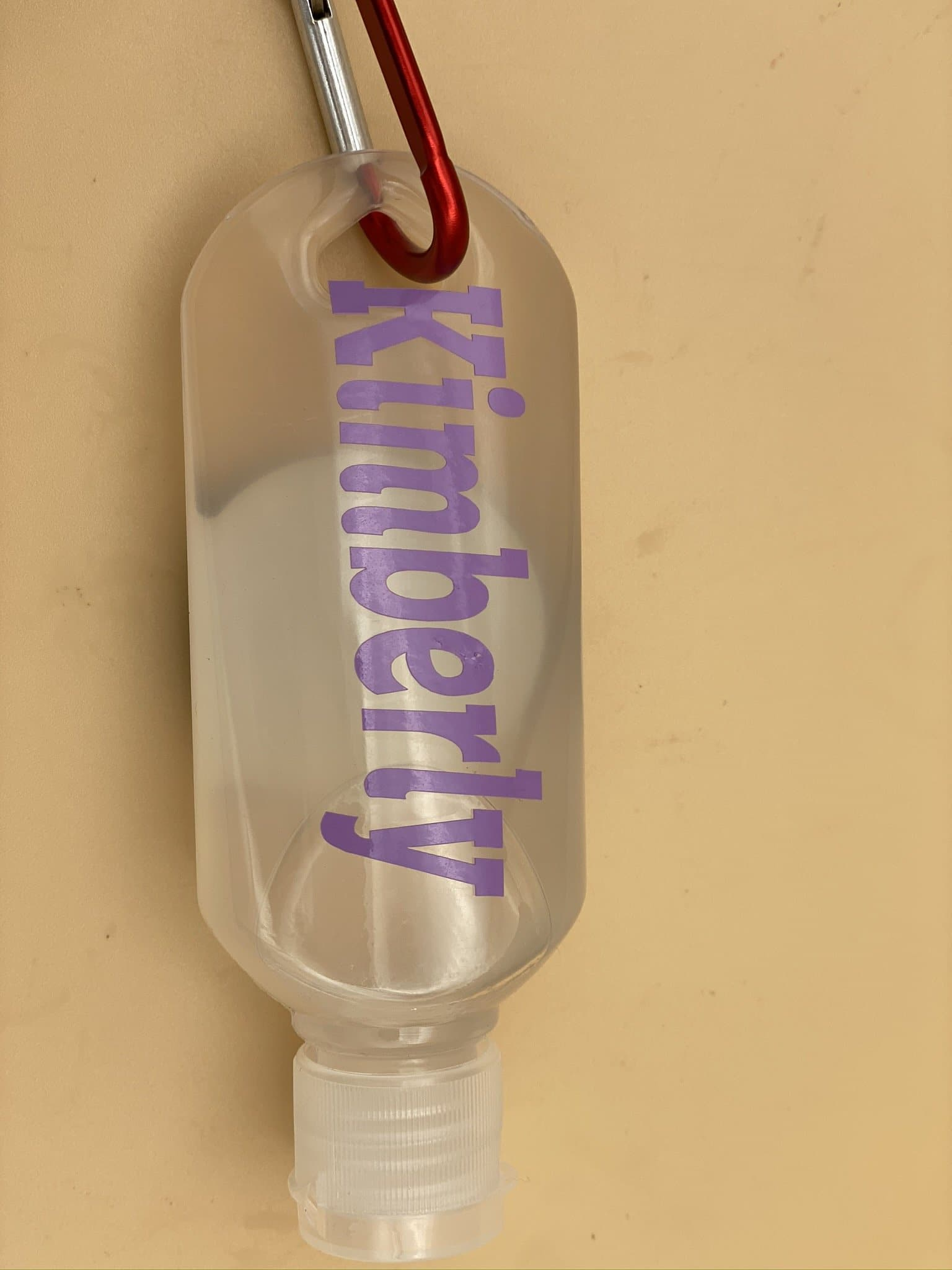 "Personalised Hand Sanitiser Bottles with clips idea for ""back to school"" - Pugglewick Candles"