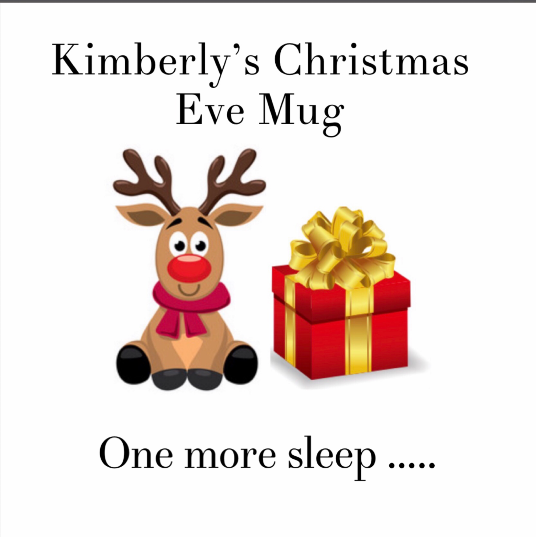 Personalised Christmas Eve mug