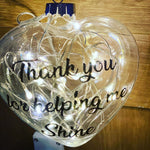 Teacher thank you bauble - light up.