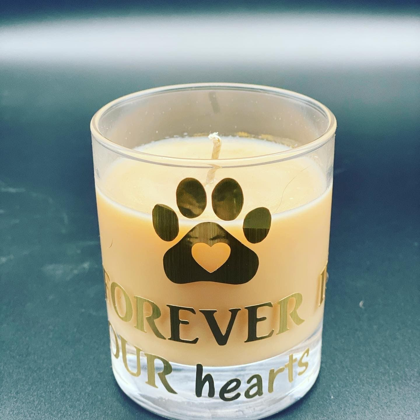 "Pet memorial candle. #forever in our hearts"" - Pugglewick Candles"
