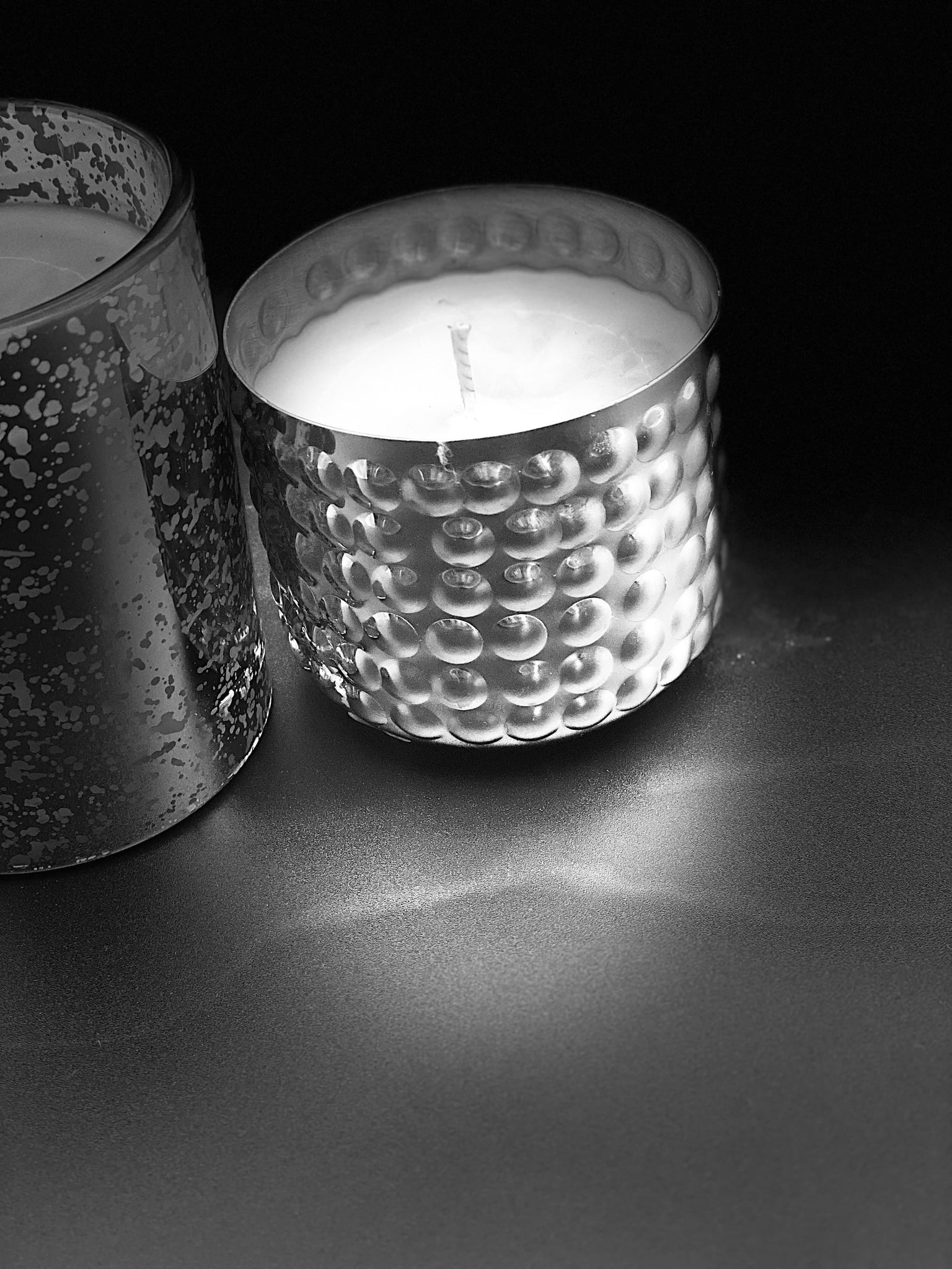 Luxury candle in dimple metal container - Pugglewick Candles