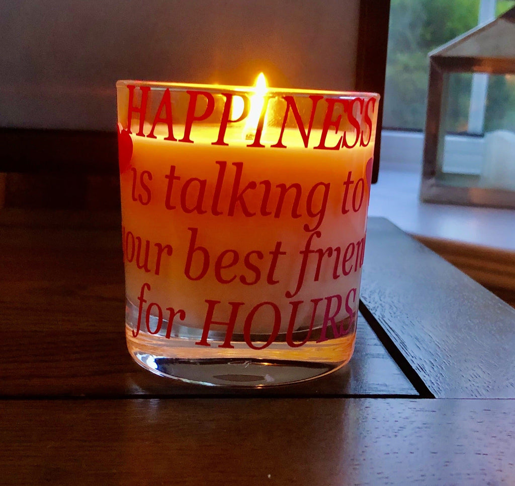Happiness is Talking to your Best Friend for Hours Candle - Pugglewick Candles
