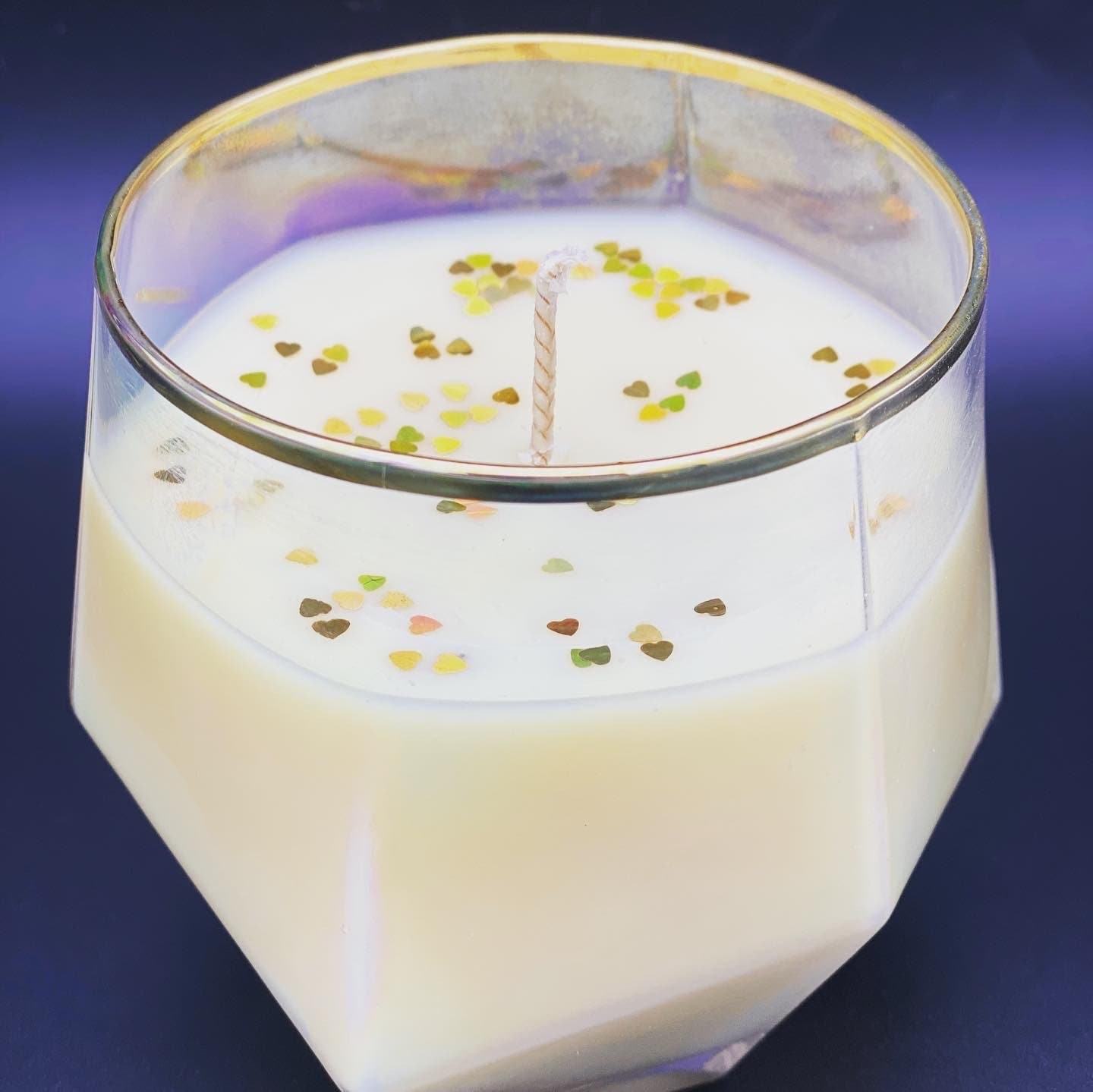 Soy wax fragrance inspired Creeed pearlescent with biodegradable glitter - Pugglewick Candles