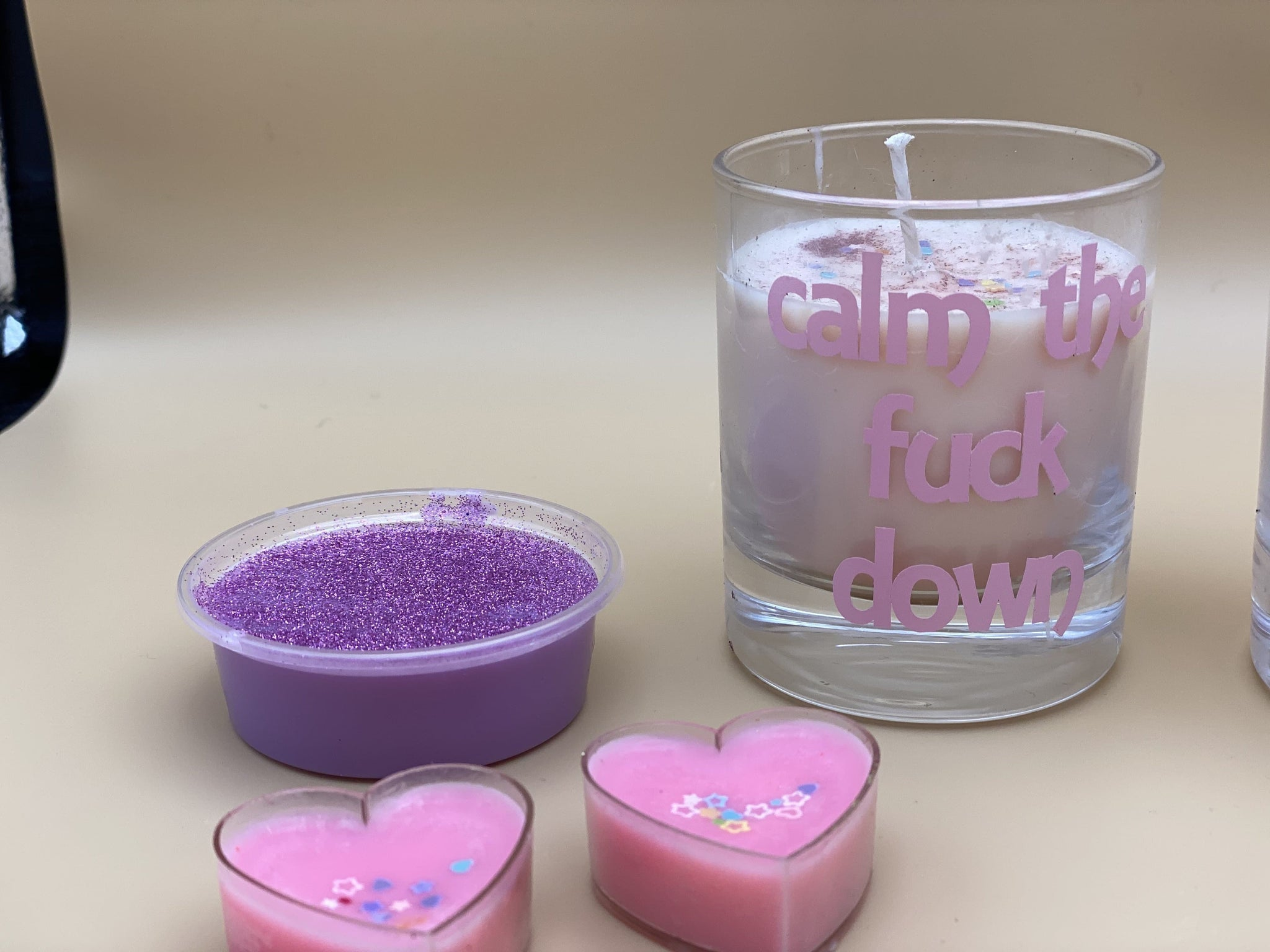 Fiver Friday Calm the Fuck down - naughty girl collection - Pugglewick Candles
