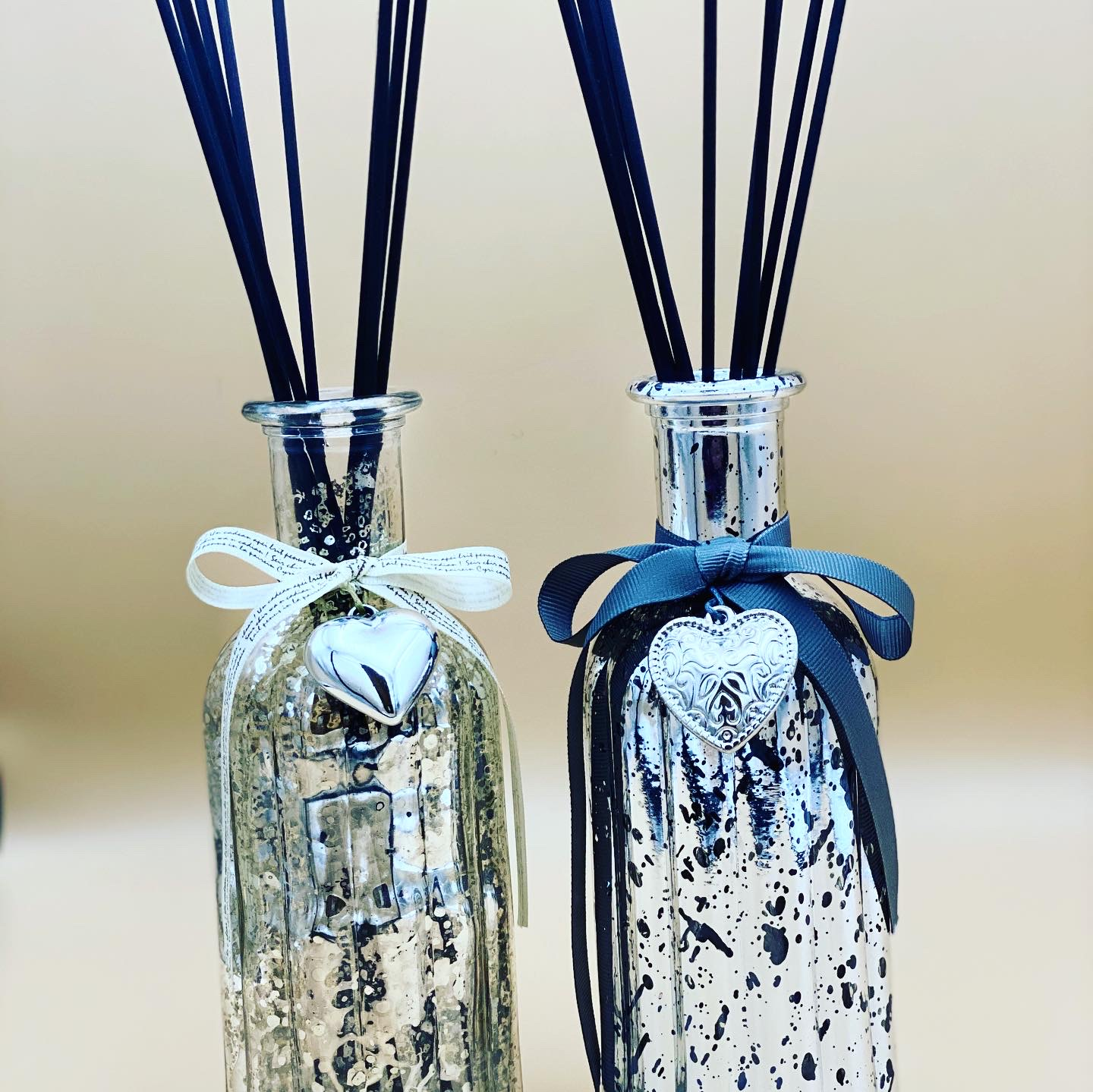 Luxury Reed Diffuser - large with Heart. - Pugglewick Candles
