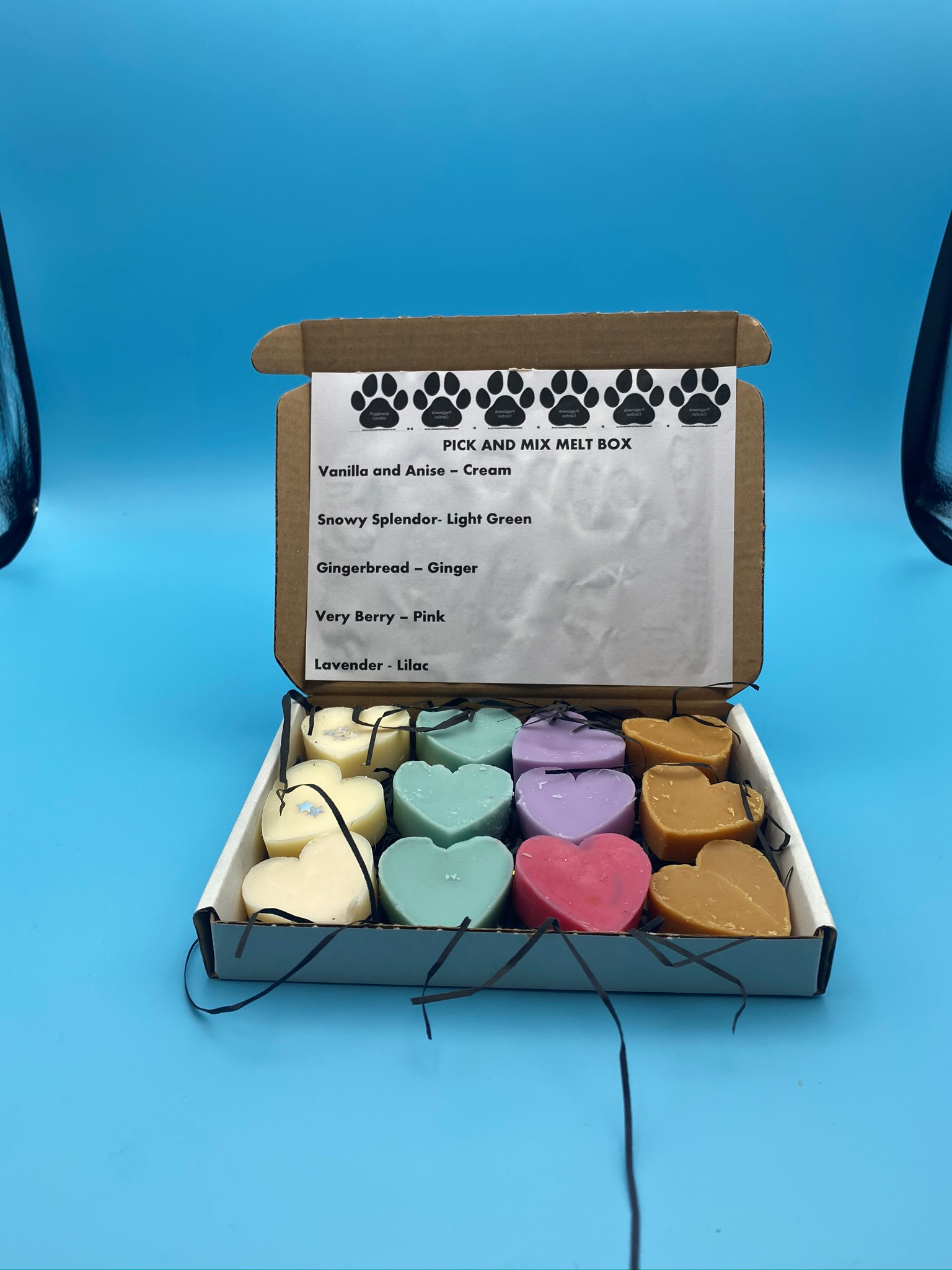 Melt Pick and Mix Box - 12 melts - Pugglewick Candles