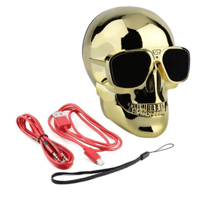 Skull Bluetooth Speaker in Gold