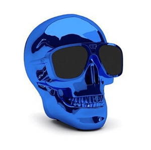 Skull Bluetooth Speaker in Blue
