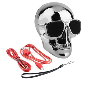 Skull Bluetooth Speaker in Silver