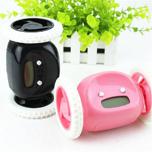 Bolt the Runaway Alarm Clock in Black and pink