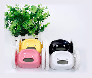 four different Bolt the Runaway Alarm Clock in four colors