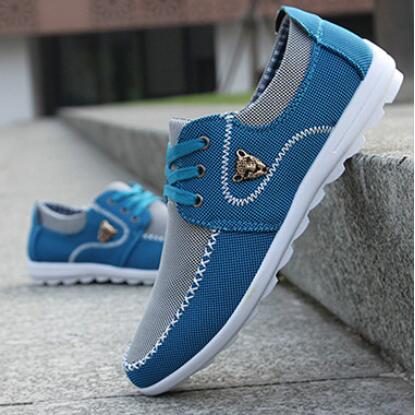 Drop Shipping Men Casual Shoes Big Size 39-44 Canvas Shoes for Men Driving Shoes Soft Comfortatble Man Footwear