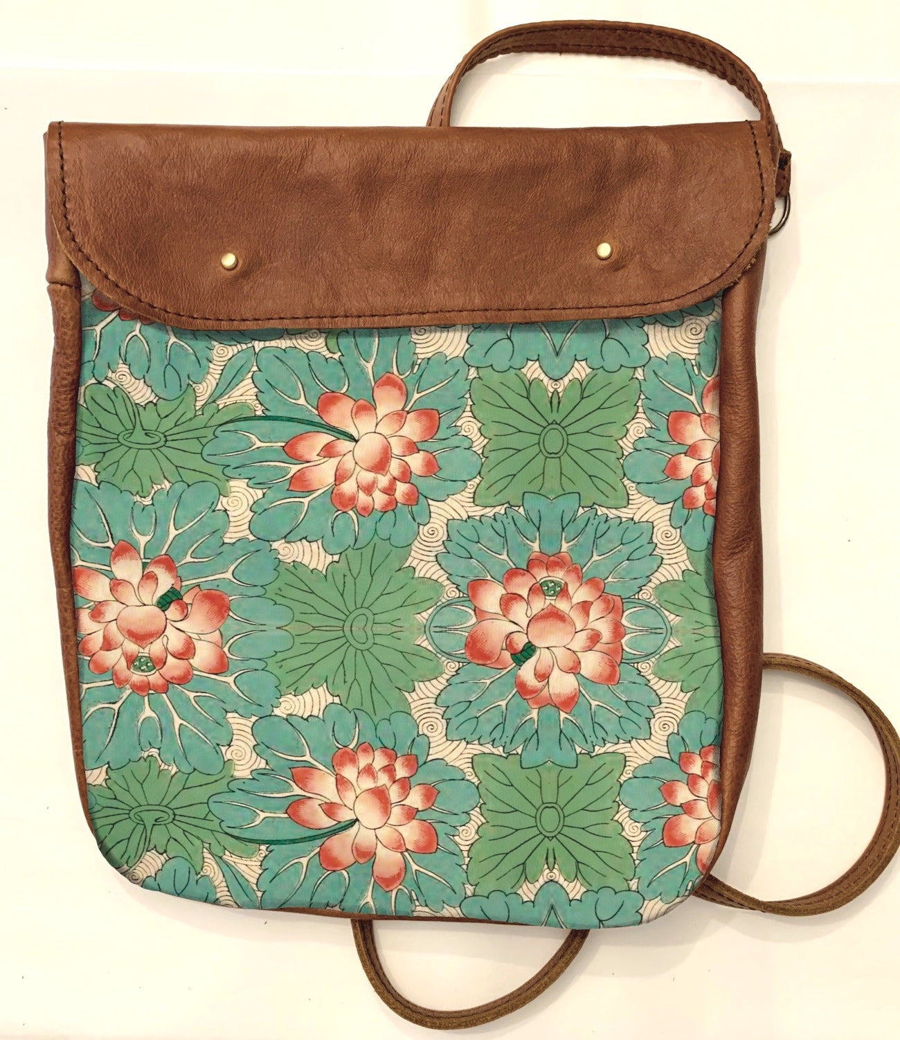 Crossover bag Green Floral Print