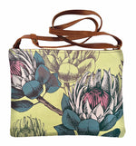 Load image into Gallery viewer, Shoulder bag Proteas on Lime