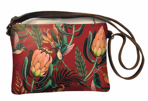 Shoulder bag Proteas and Sunbirds