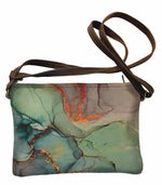 Load image into Gallery viewer, Shoulder bag Green Marble