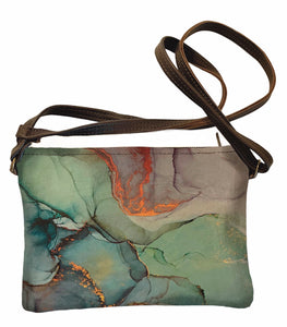 Shoulder bag Green Marble