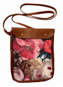 Crossover bag Poppy bouquet