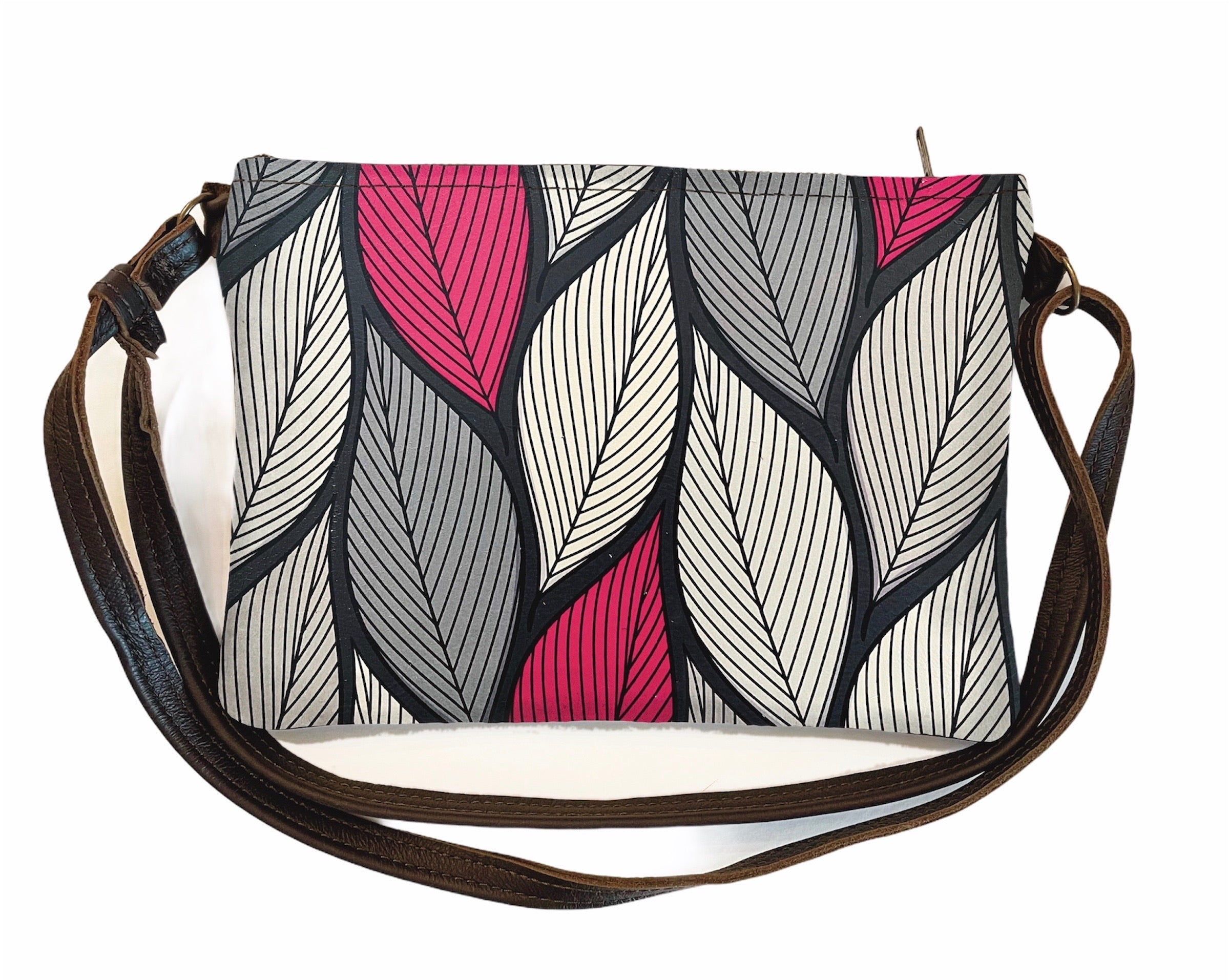 Shoulder bag Pink Leaves
