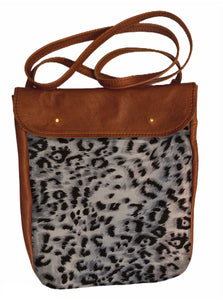 Crossover bag Snow Leopard print