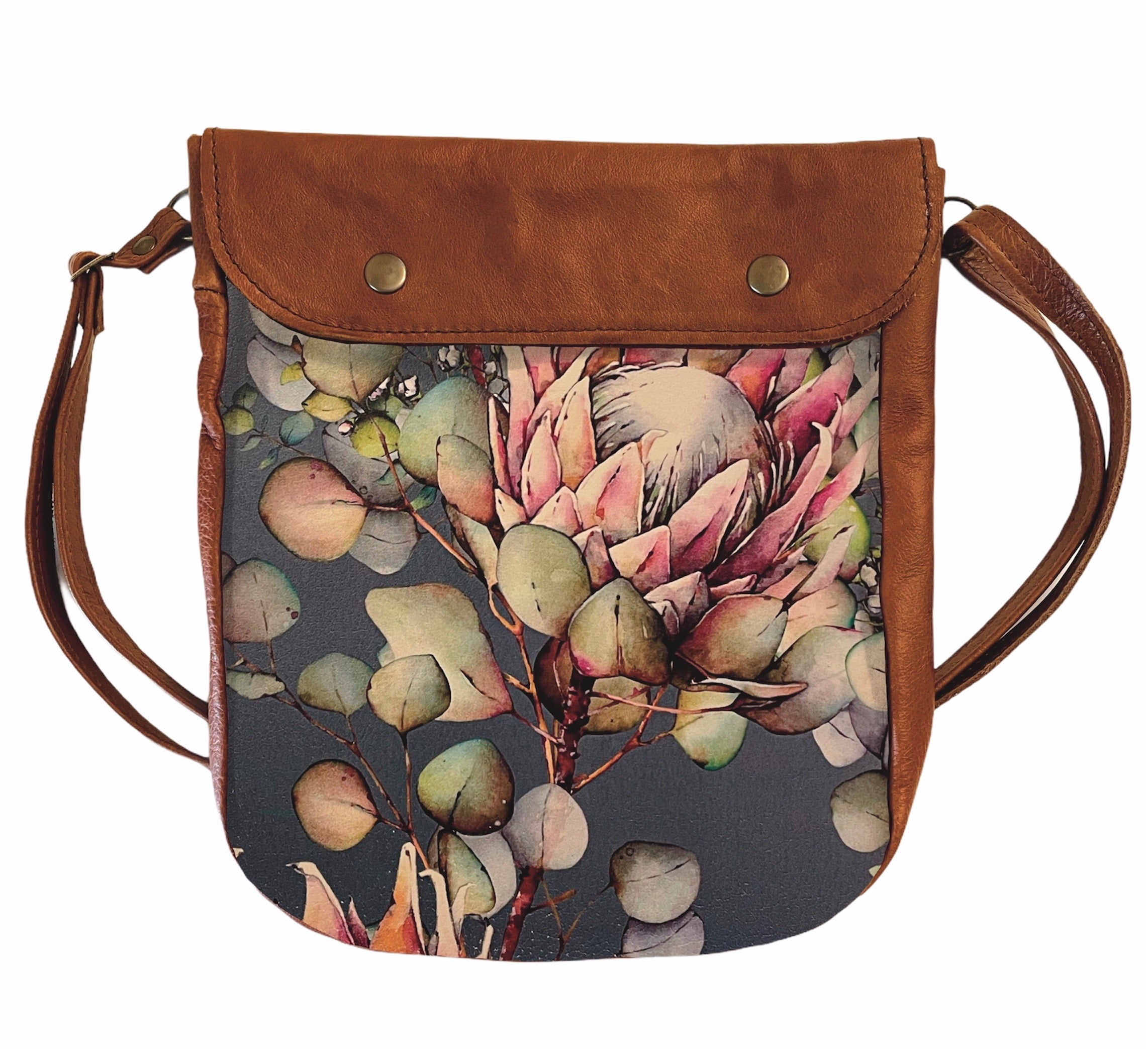 Crossover bag Protea Watercolour