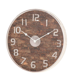 "MTL WD WALL CLOCK 18""W, 18""H"