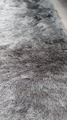 Tapete shaggy largo gris 1.60 x 2.30 m