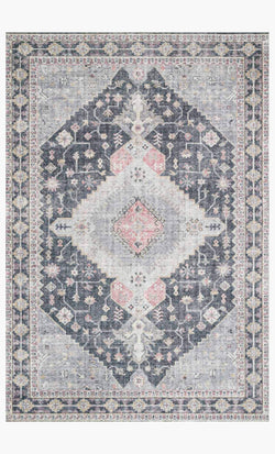 Tapete Skye Charcoal Multi 1.5 x 2.28 m