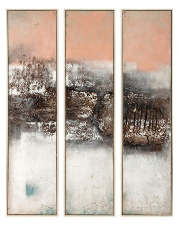 NK Hollis Oversized Oil Painting Ast of 3
